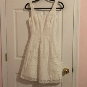 Lilly Pulitzer White Floral Lace Dress